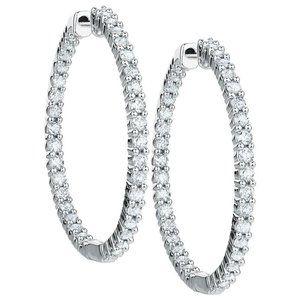 7.00 Ct gorgeous round cut diamonds ladies Hoop ea